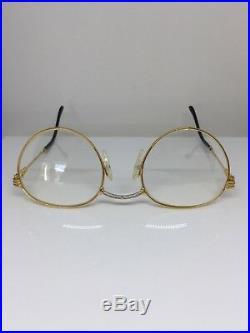 New Vintage FRED Lunettes Ouragan Gold Bicolore JJ C. 001 Eyeglasses 51mm France