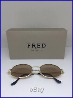 New Vintage FRED Lunettes Seychelles Sunglasses C. 001 Gold Bicolore 49mm France