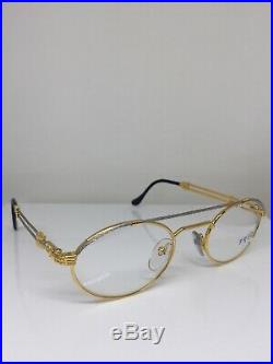New Vintage FRED Lunettes Winch Gold Bicolore C. 001 Eyeglasses Made France 49mm