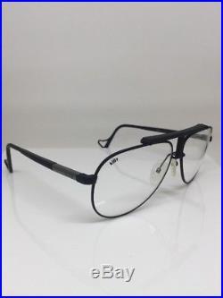 New Vintage Jean Claude Killy 473 Aviator Eyeglasses M. 473 Matte Black France