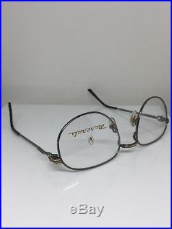 New Vintage Maserati Eyeglasses M. 6213 C. 02 Dark Grey Gunmetal & Gold France