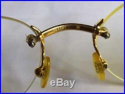 Nice vintage Fred orcade rimless eyeglasses frame