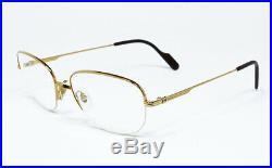 Nos Vintage Eyeglasses Cartier Montaigne Gold Platinum Frame Sunglasses Vendome