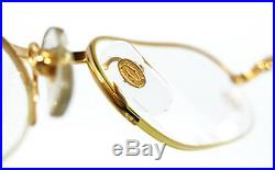 Nos Vintage Eyeglasses Cartier Must Ascot Gold Silver Nylor Frame Square Vendome