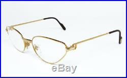 Nos Vintage Eyeglasses Cartier Rivoli Gold Silver Woman Frame Sunglasses Vendome