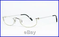 Nos Vintage Eyeglasses Cartier T8100348 48 Platinum Gold Nylor Frame Sunglasses