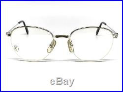 OCCHIALI CARTIER COLISEE T8100233 VINTAGE EYEWEAR PLATINUM PLATED 1990's