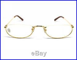 OCCHIALI CARTIER DEMI LUNE T8100347 VINTAGE EYEWEAR 18KT GOLD PLATED 1990's