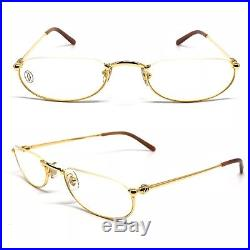 0930369bc24 OCCHIALI CARTIER DEMI LUNE T8100434 VINTAGE EYEWEAR 18KT GOLD PLATED 1990 s