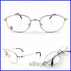 Occhiali Cartier Vesta T8100497 Vintage Frame Eyewear Platinum Plated Nos 90's
