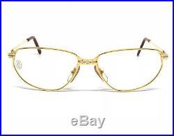 OCCHIALI CARTIER WINDSOR T8100116 VINTAGE EYEWEAR 18KT GOLD PLATED 1990's