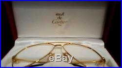 ONE Cartier Aviator Glass Frame 18K Gold finish 100% AUTHENTIC & NEVER WORN