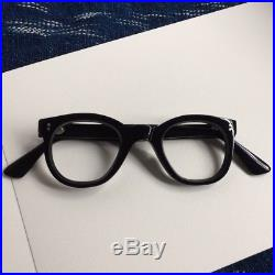 Original 1950s French eyeglasses thick panto handmade in France