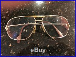 Original c1988 Vintage CARTIER TANK L. C Eyeglasses PLATINE 62-14 L Used Luxury
