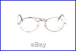 Oval fancy ladies eyeglasses, golden & multicolored by CASANOVA, LC 20 N98K