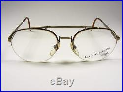 Paris Aviator Antique Bronze Tortoise Rimless Retro Eyeglass Frame Large 56-20