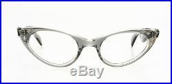 Pointy 1950s cateye eyeglasses, by SELECTA Mod SUZETTE Decor crystal smoke EG1-1