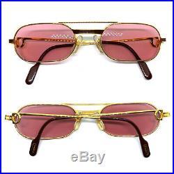 RARE! CARTIER MUST LAQUE Vintage Eyeglasses / Sunglasses with Case 20301