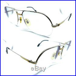 RARE! CARTIER ORSAY Vintage Eyeglasses / Sunglasses Tank Silver 20123