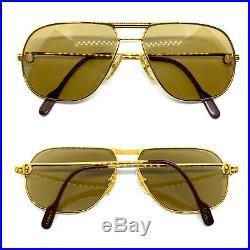 RARE! CARTIER TANK 1988 59-14 140 Vintage Eyeglasses Sunglasses with BOX 20511