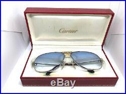 RARE! CARTIER TANK 62-12 140 Vintage Eyeglasses / Sunglasses with Case 191014