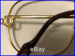 RARE! CARTIER TANK 62-14 140 Gold Vintage Eyeglasses / Sunglasses