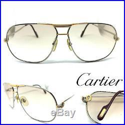 RARE! CARTIER TANK Vintage Eyeglasses / Sunglasses santos Vendome Silver Gold