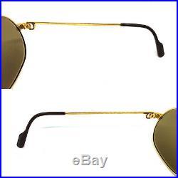 RARE! CARTIER TANK Vintage Eyeglasses / Sunglasses with BOX! Santos Vendome