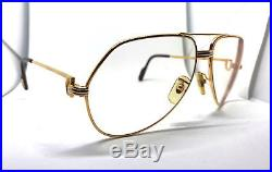 RARE! CARTIER Vendome Louis Vintage Eyeglasses / Sunglasses with Case! Santos