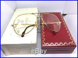 RARE! CARTIER Vendome SANTOS 1983 Vintage Eyeglasses / Sunglasses with Case