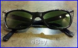 RARE FRENCH RETRO VINTAGE CAT EYE glasses RAUBERT EXOTIQUE FRAMES Rhinestones