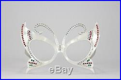 RARE VINTAGE 1950s FRAME FRANCE BUTTERFLY RHINESTONE SUNGLASSES FRAMES WithCASE