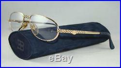 RARE VINTAGE ETTORE BUGATTI 501 0104 Gold Reading Glasses Eyeglasses Optical 54