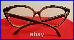 RARE VINTAGE Emmanuelle Khanh Eyeglasses HAND MADE FRANCE MOD Large Steampunk