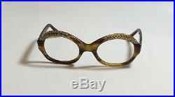 RARE VINTAGE MARTINE bY KUNO Eyeglasses WithRhinestones MADE IN FRANCE
