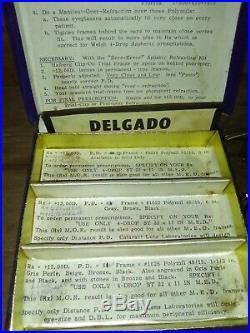 RARE! Vintage 114K AMOR (1)12K SHURON 1CATARACTK drop aspheric refracting set