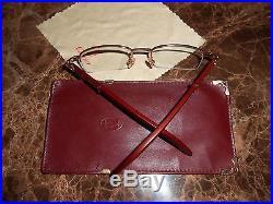 RARE Vintage Cartier EyeGlasses Frames Half Rimless Size135x20 France
