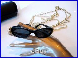 RARE Vintage Chanel 80s Sunglasses Pearl Necklace in Box -Christmas