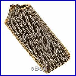 RARE Vintage Chanel Jewelry Stainless Steel Pearl & Gemstone Eyeglass Case