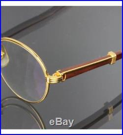 Rare Auth Vintage Cartier Bagatelle Wood Eyeglasses Wood Frames 55/18 135b