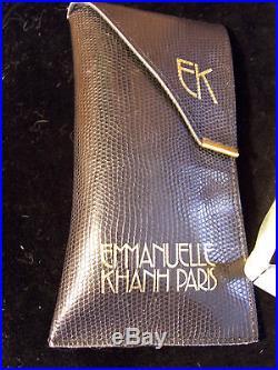 Rare Designer vintage EMMANUELLE KHANH eyeglasses with case pristine condition