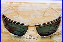 Rare Sol-Amor Sport Wraparound 60's Vintage Sunglasses France 10K GP & Case Orig