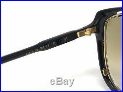 Rare Ted Lapidus TL 17 01 Vintage Eyeglasses Sunglasses Frames Black Gold Rx