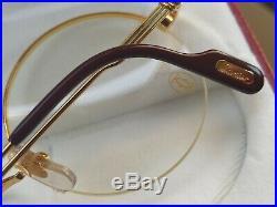 Rare Vintage Cartier round half frame eyeglasses size 48mm