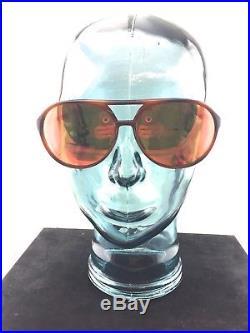 Rare Vintage REVO Solan Orange Mirror Tortoise Frame Sunglasses