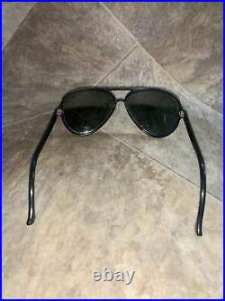 Ray Ban Bausch and Lomb B&L Aviator Black Frame Sunglasses France 145