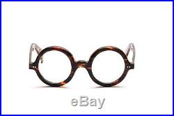 Round thick eyeglasses for Le Corbusier fans in 42 26 mm D6