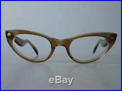 Royal VTG 1950s eyeglasses, SELECTA SUZETTE brown miste