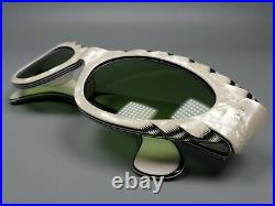 SELECTA France Brille Vintage Sunglasses Charming Cat-Eye Ivory Effect Intarsia