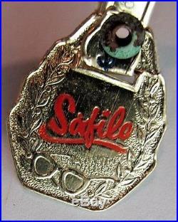 Safilo Vintage Dark Brown plastic frame 46x22 KO frame Italy Temple 5 1/4